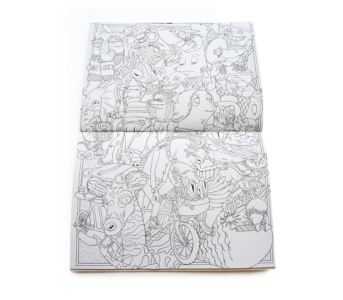 Виж! magazine coloring spread