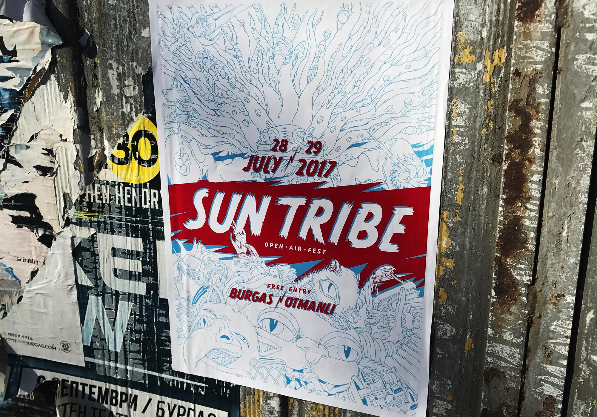 Sun Tribe fest poster