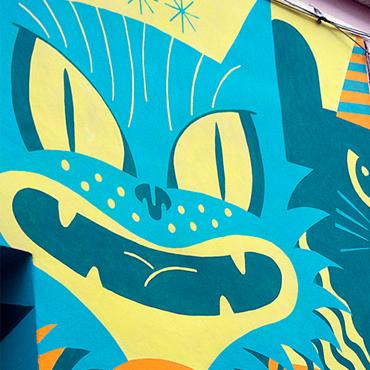 Виж! magazine mural